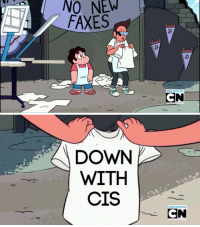 Cis, Down, and New: NO NEW  FAXES  NEW EPISODE  CN   DOWN  WITH  CIS