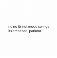No No Its Not Mood Swings Its Emotional Parkour I Had To Wash Dishes