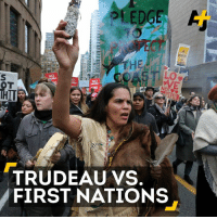 """This is about our survival."" First Nations and environmentalists are gearing up for a fight with Trudeau over a massive pipeline.: NO  NO  OT  TRUDEAU VS.  FIRST NATIONS ""This is about our survival."" First Nations and environmentalists are gearing up for a fight with Trudeau over a massive pipeline."