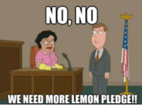 No No No: NO, NO  WE NEED MORE LEMON PLEDGE!!