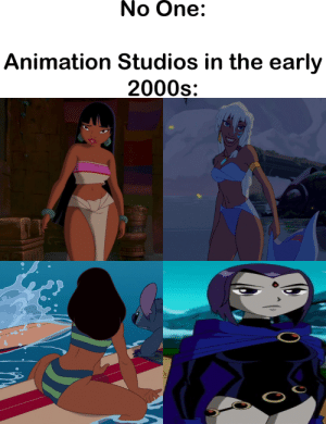 """What if we made them thicc?"" by TheAvatarBoy2018 MORE MEMES: No One:  Animation Studios in the early  2000s ""What if we made them thicc?"" by TheAvatarBoy2018 MORE MEMES"