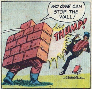 Donald Trump on his border control plan (2017): NO ONE CAN  STOP THE  WALL Donald Trump on his border control plan (2017)