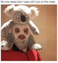 """<p>Today I found out that I was a meme. Best day of my life. via /r/memes <a href=""""http://ift.tt/2quKtO7"""">http://ift.tt/2quKtO7</a></p>: No one cared who I was until I put on the mask <p>Today I found out that I was a meme. Best day of my life. via /r/memes <a href=""""http://ift.tt/2quKtO7"""">http://ift.tt/2quKtO7</a></p>"""