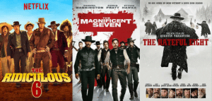 Netflix, Tumblr, and Blog: NO ONE COMES UP HERE WITHOUT A DAMN GOOD REASON  NETFLIX  DENZEL  CHRIS  ETHAN  WASHINGTON PRATT HAWKE  THE  MAGNIFICENT  SEVEN  THE 8TH FILM BY  QUENTIN TARANTINO  THE HATEFUL EIGHT  THE  JACRSON RUSSELLAS E CINS BiCHIR RHMDN DERN failnation:  I don't watch many westerns, but this movie series got pretty dark