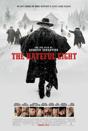 """In The Hateful Eight, Bruce Durn's character tries to shoot Samuel L. Jackson's character after Jackson tells Durn that he forced Durn's son to suck his dick. This is because the story takes place in Wyoming, where it is federal law to kill all homosexuals.: NO ONE COMES UP HERE WITHOUT A DAMN GOOD REASON  THE 8TH FILM BY  QUENTIN TARANTINO  THE HATEFUL EIGHT  MICHAEL  TIM  BRUCE  SAMUEL L.  KURT  JENNIFER  WALTON  DEMIAN  JACKSON RUSSELL JASON LEIGH GOGGINS BICHIR ROTH MADSEN AND DERN  THE WEINSTEIN COMPANY PRESAITS THE FLMBY QUENTIN TARANTINO """"THE HATEFUL EIGHT"""":SR JAMES PARKS AND CHANNING TATUM VICTORIA THOMAS  ISN ENNIO MORRICONE E COURTNEY HOFFMAN FRED RASKIN ADE YOHEI TANEDA A ROBERT RICHARDSON ASC BOB WEINSTEIN  HARVEY WEINSTEIN GEORGIA KACANDES RUR RICHARD N. GLADSTEIN STACEY SHER SHANNON MeINTOSH  L COMING SOON QUENTIN TARANTINO Pn70  STARRI  PHOTOGRAPHY  ESTNICTED R STRONG BLO0T LENCE  A SCENE OF VIOLENT SEAL  CONTENT, LANGUACE AND  WRITE AN  OWRECTED BY  SOME GAPNC NIDITY,  PATOAT  THE WEINSTEIN COMPANY  ARTWO  020THEWENSTERR COMPANY In The Hateful Eight, Bruce Durn's character tries to shoot Samuel L. Jackson's character after Jackson tells Durn that he forced Durn's son to suck his dick. This is because the story takes place in Wyoming, where it is federal law to kill all homosexuals."""