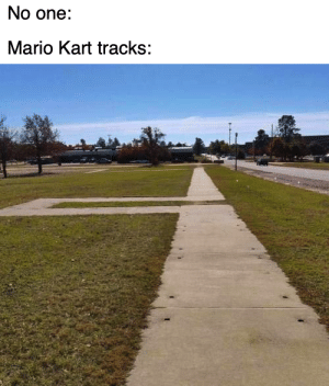 Dank, Mario Kart, and Memes: No one:  Mario Kart tracks: I stole the image and the text from two different people, so its not plagiarism, its research by GeneReddit123 MORE MEMES