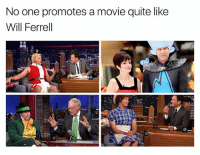 Anchorman, Instagram, and Step Brothers: No one promotes a movie quite like  Will Ferrel I wish Will Ferrell had an Instagram so I could harass him with daily quotes from Anchorman & Step Brothers