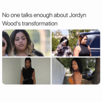 Memes, 🤖, and One: No one talks enough about Jordyn  Wood's transformation She looks incred ✨ glowup jordynwoods