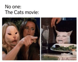 Really though it's creepy: No one:  The Cats movie: Really though it's creepy