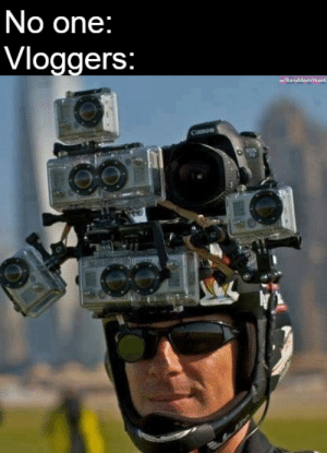 A rival to the Asian tourist: No one:  Vloggers:  Canon A rival to the Asian tourist