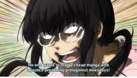 anime_irl: No one wants to read a cheap manga with  afjustice-preaching protagonist nowadays! anime_irl