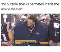 "Memes, Nfl, and Movie: no outside snacks permitted inside the  movie theater""  NFL  AFC CHAMP  TO ON LAST 20 DRIVES THIS POSTSEASON  Ole PIT'0'-NE 10 1st 2:41 191-1ST&10 Sneak snacks shake snakes via /r/memes https://ift.tt/2M5QlrZ"