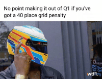 Memes, Genius, and F1: No point making it out of Q1 if you've  got a 40 place grid penalty  OH  peni  -Thue  Man  wtf1 Alonso is a genius 💡 f1 formula1 fernandoalonso wtf1