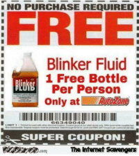 Funny, Free, and Pictures: NO PURCHASE REQUIRED  FREE  Blinker Fluid  1 Free Bottle  Per Person  Only atone  66349040  SUPER COUPON!  The itenet Scavengars <p>LMFAO pictures  A wild collection of funny pics  PMSLweb </p>