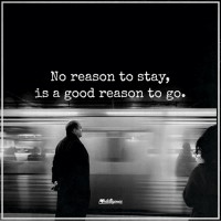 Higher Perspective via Intelligence is sexy: No reason to stay,  is a good reason to go. Higher Perspective via Intelligence is sexy