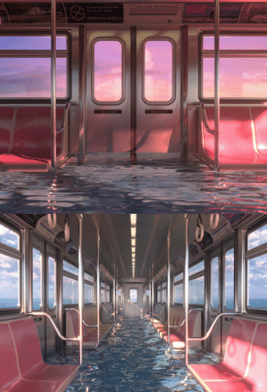 thaflowstate:   Sunset Pipe Dream, Digital, 2019    IG: WahbiSn : No smoking on the train.  But it's your dream,  aean  So feel free to smoke.  Do not leave  Do not leave   t free to sm thaflowstate:   Sunset Pipe Dream, Digital, 2019    IG: WahbiSn