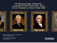 """Beautiful, Gif, and Guns: No Student shall, within the  precincts of the University...keep  or use weapons or arms of any kind""""  T. JEFFERSON  J. MADISON  Meeting Minutes of University of Virginia Board  of Visitors, 4 October 1824  Present: Thomas Jefferson, James Madison,  James Breckenridge, John H. Cocke, George  Loyall and Joseph C. Cabell <p><a class=""""tumblr_blog"""" href=""""http://redbloodedamerica.tumblr.com/post/112143623942"""">redbloodedamerica</a>:</p> <blockquote> <p><a class=""""tumblr_blog"""" href=""""http://theragingelephant.tumblr.com/post/112070476699"""">theragingelephant</a>:</p> <blockquote> <p><a class=""""tumblr_blog"""" href=""""http://shavensasquatch.tumblr.com/post/112014390636"""">shavensasquatch</a>:</p> <blockquote> <p><a class=""""tumblr_blog"""" href=""""http://momsdemandaction.tumblr.com/post/112009379062"""">momsdemandaction</a>:</p> <blockquote> <p>The NRA has a lot to learn from our founding fathers when it comes to guns on university campuses.<br/></p> </blockquote> <p>In those exact same<a href=""""http://rotunda.upress.virginia.edu/founders/default.xqy?keys=FOEA-print-04-02-02-4598""""> minutes </a> we find:""""</p> <p>A military Instructor shall be provided at the expense of the University, to be appointed by the Faculty, who shall attend on every Saturday from half after one oclock, to half after three P.M. and shall instruct the Students in the Manual exercise, in field evolutions, maneuvres and encampments. the Students shall attend these exercises, and shall be obedient to the military orders of their Instructor. the roll shall be regularly called over by him at the hour of meeting, absences and insubordinations shall be noted, and the list of the delinquents shall be delivered to the presiding member of the Faculty for the time being, to be animadverted on by the Faculty, and such minor punishments imposed as each case shall, in their discretion, require. the school of Modern languages shall be pretermitted on the days of actual military exercise. Substitutes in the form of"""