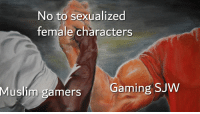 Muslim, Gaming, and Can: No to sexualized  female characters  Muslim  gamers  Gaming SJVW