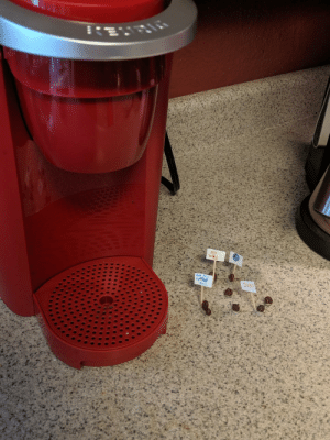 Our roomate bought a Keurig despite us already having a coffee pot. The community was not happy.: NO  way  Net My  Coffee  Pot  JOBS Our roomate bought a Keurig despite us already having a coffee pot. The community was not happy.