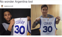Lmao I can't with y'all tonight 😂😭 👉@memes: No wonder Argentina lost  stephencurry30  CURR  CURR Lmao I can't with y'all tonight 😂😭 👉@memes