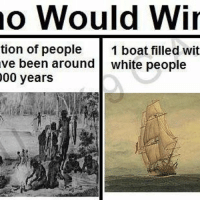 no Would Win  tion of people  1 boat filled wit  ve been around  white people  00 years