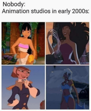 fairylitmermaid:    That's why so many caught The Big Gay: Nobody:  Animation studios in early 2000s: fairylitmermaid:    That's why so many caught The Big Gay