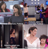 Beautiful, Birthday, and Memes: Nobody asked for  Nobody asked you, Patricel  your help, Patrice!  howimet other thefanpage  insta ogram  Nobody asked you  Nobody  a  Patrice!  here, Patricel  yo Happy Birthday to this beautiful, wonderful, talented and amazing actress🎉💙 Happy Birthday Cobie🎉🎉💙 -- Scene requested by @nuzeefasayed himym howimetyourmother sitcom robinscherbatsky cobiesmulders