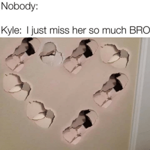 Dank Memes, Her, and Miss: Nobody:  Kyle: I just miss her so much BRO BRO