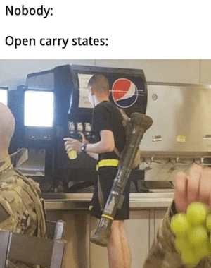 Meirl by TheChocolatePig MORE MEMES: Nobody:  Open carry states: Meirl by TheChocolatePig MORE MEMES