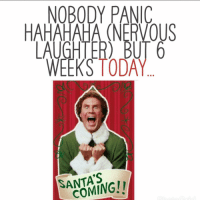 Memes, Today, and 🤖: NOBODY PANIC  HAHAHAHA (NERVOUS  AUGHTER) BUT 6  WEEKS TODAY  SANTA'S  COMING! 😳