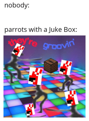 I love minecraft parrots so I made this: nobody:  parrots with a Juke Box:  yevre groovin I love minecraft parrots so I made this