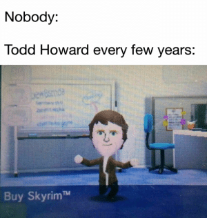 Buy Skyrim : dankmemes: Nobody:  Todd Howard every few years:  uewBsmde  het  Buy SkyrimTM Buy Skyrim : dankmemes