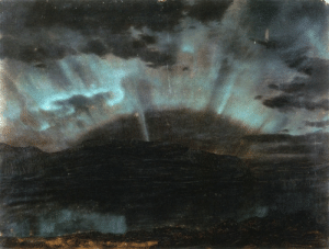 nobrashfestivity:  Frederic Edwin Church  Aurora Borealis from Bar Harbor Maine, 1860: nobrashfestivity:  Frederic Edwin Church  Aurora Borealis from Bar Harbor Maine, 1860