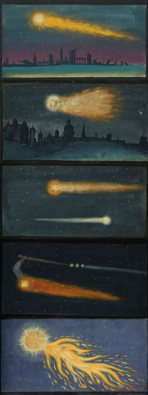 nobrashfestivity: Unknown, Comets from the Augsburg Book of Miraculous Signs, 1552   Later published as The Book of Miracles Wikimedia : nobrashfestivity: Unknown, Comets from the Augsburg Book of Miraculous Signs, 1552   Later published as The Book of Miracles Wikimedia