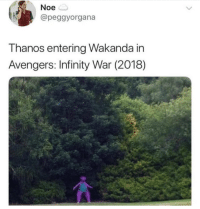 textbookstarkissism:This was really funny before I realized how fucking ominous it looks: Noe  @peggyorgana  T hanos entering Wakanda in  Avengers: Infinity War (2018) textbookstarkissism:This was really funny before I realized how fucking ominous it looks