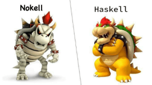 Programmer Humor, Haskell, and This: Nokell  Haskell I keep on thinking of this