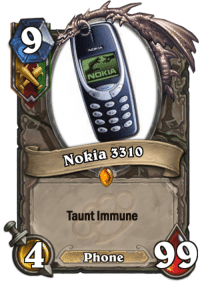 Memes, 🤖, and Nokia: NOKIA  Nokia 3310  Taunt Immune  Phone op? Like (Y) Order of Rexxar