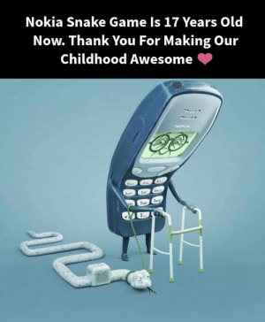 How many of you have used the Nokia Phone ?: Nokia Snake Game Is 17 Years Old  Now. Thank You For Making Our  Childhood Awesome How many of you have used the Nokia Phone ?