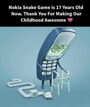 Awwww: Nokia Snake Game Is 17 Years Old  Now. Thank You For Making Our  Childhood Awesome (p Awwww