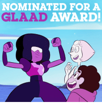Congrats to the #StevenUniverse team's GLAAD nomination in the Outstanding Comedy Series category! #glaadawards: NOMINATED FOR A  GLAAD  AWARD! Congrats to the #StevenUniverse team's GLAAD nomination in the Outstanding Comedy Series category! #glaadawards