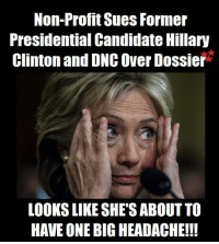 """Donald Trump, Finance, and Hillary Clinton: Non-Profit Sues Former  Presidential Candidate Hillary  Clinton and DNC Over Dossier  LOOKS LIKE SHE'S ABOUT TO  HAVE ONE BIG HEADACHE!!! The Coolidge Reagan Foundation, a non-profit organization, has filed a 22-page federal election complaint with the Federal Election Commission (FEC) against Hillary Clinton's 2016 presidential campaign, the Democratic National Committee, and their law firm Perkins Coie. Another target of their legal complaint is against Christopher Steele, the ex-British spy that authored the infamous, false dossier on President Trump.  The foundation is focused on Hillary Clinton and Democrat insiders' illegal use of money transfers and payments to and from Fusion GPS, which is the firm hired by Steele to compile the dossier. The brazen money transfers are in violation of campaign finance laws, shifting tens of millions of dollars in different accounts via donors and different party entities.   While Democrats and the liberal media continue to attack President Trump for alleged collusion, the non-profit is certain that it was actually the Democrats colluding with foreigners.  The Coolidge Reagan Foundation added, """"The Clinton campaign weaponized American intelligence and law enforcement communities — led by Democratic appointees of President Barack Obama —through false, malicious, wholly manufactured lies about the Republican nominee, now President, Donald J. Trump.""""  The complaint notes that while the Clinton campaign reported all legal expenses to Perkins Coie from January 2016 through December 2017, Fusion GPS was never mentioned.   Where was the itemized expense for opposition research against President Donald Trump? That's what the foundation would like to know.  If this type of money laundering scheme happened on a Republican presidential campaign, the mainstream media would be asking the questions. But since this involves DNC and Hillary Clinton, it will take litigation and hopeful cooperation wi"""
