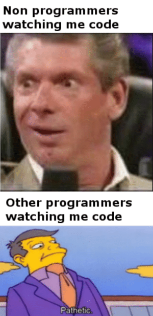 """Why are you using Javascript"": Non programmers  watching me code  Other programmers  watching me code  Pathetic, ""Why are you using Javascript"""