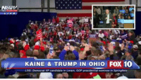 LIVE #WomenForTrump out in force!: NONV  KAINE & TRUMP IN OHIO FOX 10  LIVE: Democrat VP candidate in Lorain. GOP presidential nominee  in Springfield LIVE #WomenForTrump out in force!