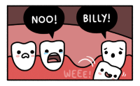 """Omg, Tumblr, and Blog: NOO! BILLY!  WEEE <p><a href=""""https://omg-images.tumblr.com/post/159592450667/baby-teeth"""" class=""""tumblr_blog"""">omg-images</a>:</p>  <blockquote><p>Baby Teeth</p></blockquote>"""