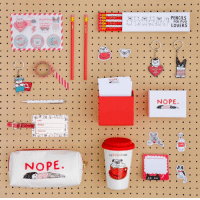 Get some fun stuff I designed at www.ohhdeer.com/collections/gemma-correll: NOPE.  NOPE  CAPU GCCINO  PENCILS  FOR PUG  LOVERS  HATE YOU  LEAST  NOPE Get some fun stuff I designed at www.ohhdeer.com/collections/gemma-correll