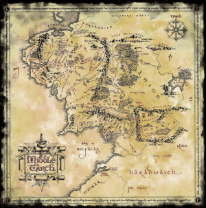 Tumblr, Blog, and Earth: noRch  F oxocheL  of old  et che Sh1  isen vet5  m o  nuR  BAy of  BELraLiA  hånd  the  K hakad land-of-maps:  Middle Earth (2400x2424)