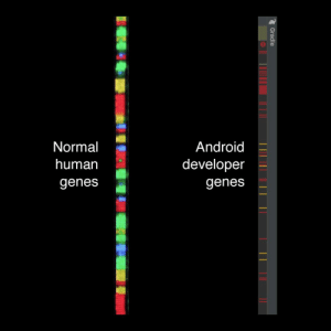 Genes of an android developer VS a normal human being: Normal  Android  human  developer  genes  genes  2 Gradle Genes of an android developer VS a normal human being