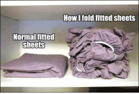 >G<: Normal fitted  sheets  How I fold fitted sheets >G<