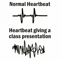 Class, Heartbeat, and Normal: Normal Heartbeat  Heartbeat giving a  class presentation