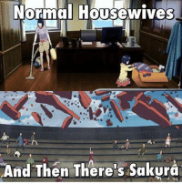 Memes, One Piece, and 🤖: Normal Housewives  And Then There's Sakura Lol xD  ~ One Piece The New Era